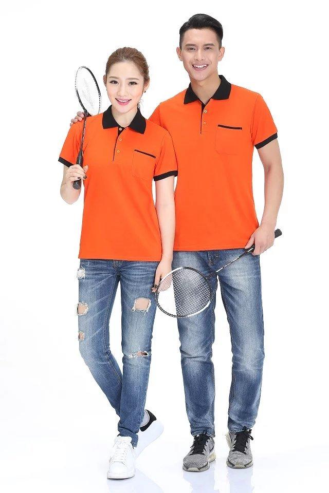 橙底黑边团体广告服T099